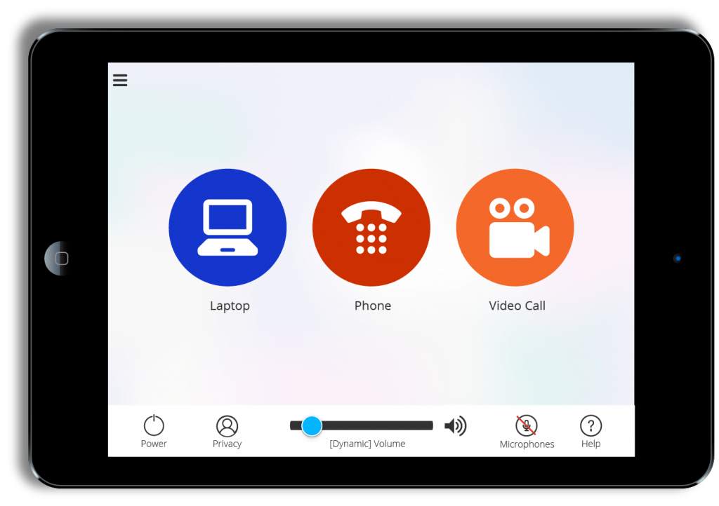 Custom conferencing system UI