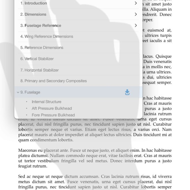 10-eReader - Table of Contents expanded chapter content