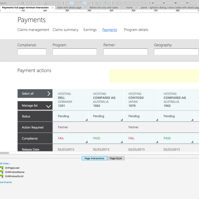 payment tool axure
