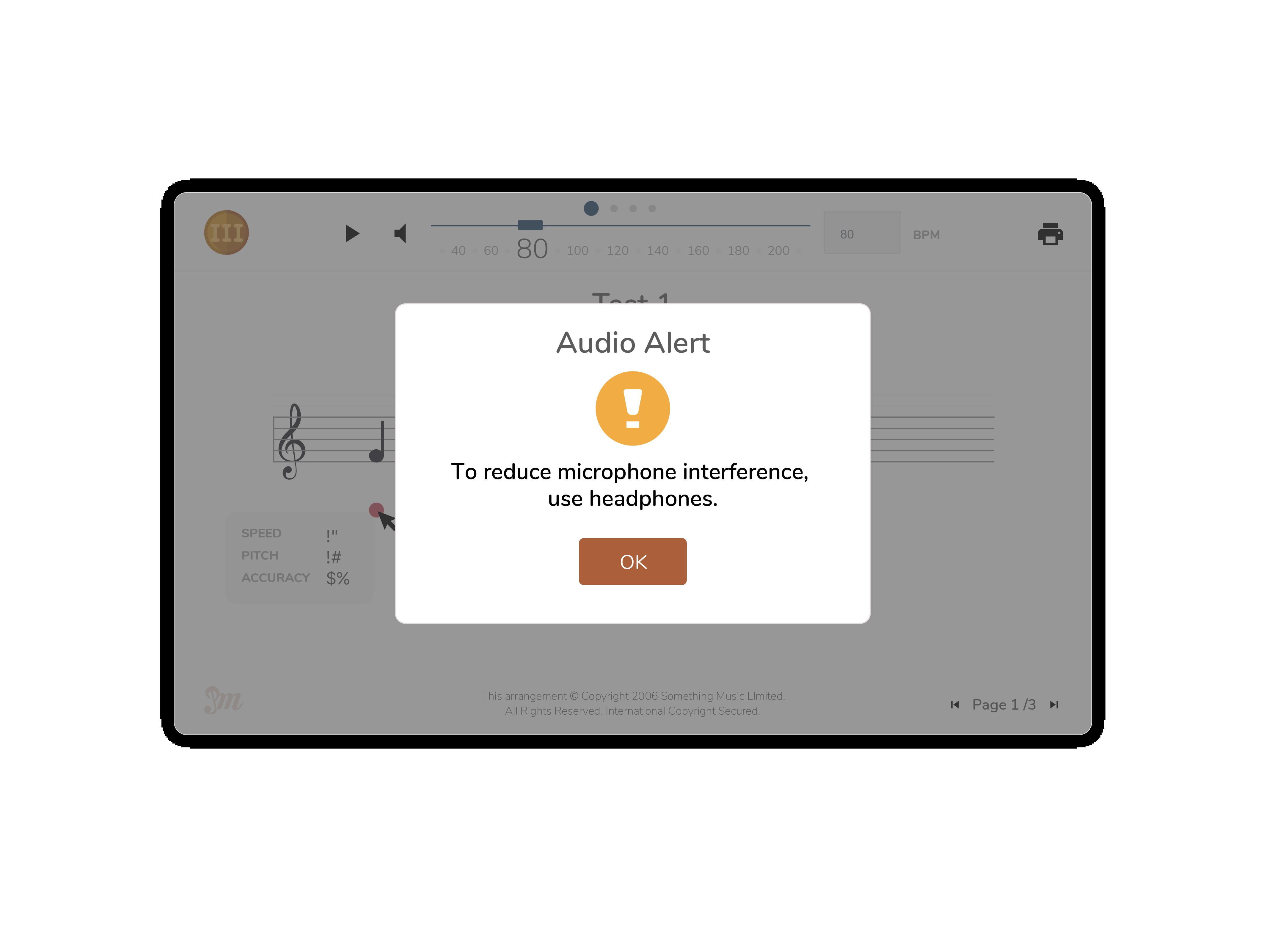 Audio modal