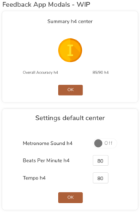 Practicing Musician - Feedback App Modals